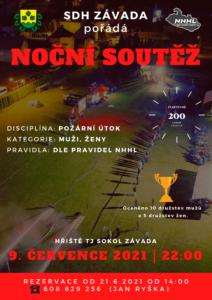 Pozvánka noční Závada 2021